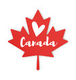 flat style of maple leaf vector image