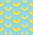 melon slices and polka dots seamless pattern vector image