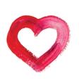 Watercolor hand drawn heart vector image