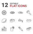12 slice icons vector image vector image