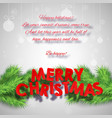 abstract merry christmas poster vector image vector image