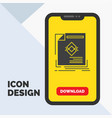 ad advertisement leaflet magazine page glyph icon vector image vector image