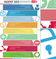 Agent SEO banners set vector image