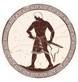 ancient greek warrior vector image vector image