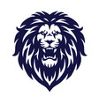 angry lion head logo icon sports mascot vector image vector image
