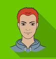avatar of a man with red hairavatar and face vector image