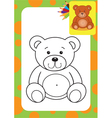 Bear toy vector image vector image