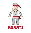 Cartoon karate young man