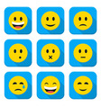 Character Emotions App Icons Set Isolated over vector image vector image