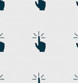 Click here hand icon sign Seamless abstract vector image