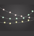 color light garlands isolated on transparent vector image