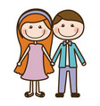color silhouette cartoon couple in suit formal vector image vector image