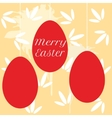 colorful easter eggs hanging on pearl beads vector image vector image
