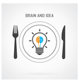 Creative light bulb idea and brain concept backgro vector image vector image