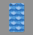 cute blue clouds collection on a vector image
