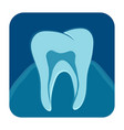 dental x-ray icon vector image vector image