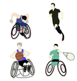 disabled man sport vector image vector image