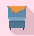 dough factory cauldron icon flat style vector image