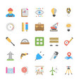engineering flat icons vector image