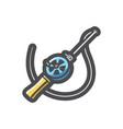 fishing rod spinning icon cartoon vector image