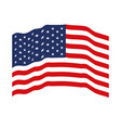 flag united states of america waving colorful icon vector image vector image