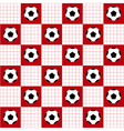 Football Ball Red White Chess Board Background vector image vector image