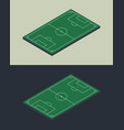 football soccer field isometric isolated template vector image vector image