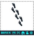 Footprint icon flat vector image vector image