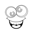 funny face crazy eyes vector image vector image