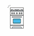 gas stove icon vector image