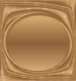 gold metal picture frame ellipse horizontally vector image vector image