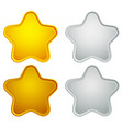 gold silver bronze platinum star shapes isolated vector image