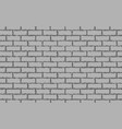 gray brick wall seamless background vector image