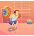 Gym Cartoon vector image