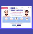 hair transplantation web banner vector image vector image