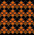 halloween pumpkin seamless pattern design vector image