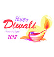 happy diwali 2018 festival of lights banner vector image vector image