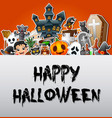 happy halloween poster card celebrations vector image vector image