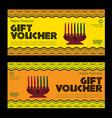 happy kwanzaa gift voucher vector image vector image