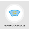 Heating automotive glass flat icon vector image vector image
