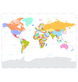 hi detail colored political world map vector image vector image