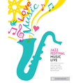 Jazz music festival design background layout vector image