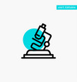lab microscope science zoom turquoise highlight vector image vector image