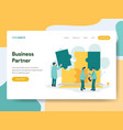 landing page template business partner vector image