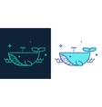 Linear style icon of a whale vector image vector image