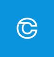 logo letter c white vector image