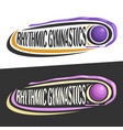 logos for rhythmic gymnastics vector image vector image