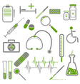 Medical Green Icons vector image vector image