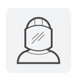 mine worker icon vector image