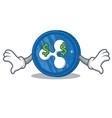 money eye ripple coin character cartoon vector image